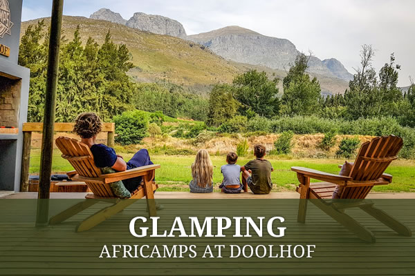 Glamping with AfriCamps at Doolhof, Wellington Camping Accommodation